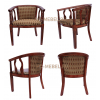 Чайное кресло из дерева с подлокотниками в гостиную, спальню, прихожую, кухню. Чайная группа В-5
